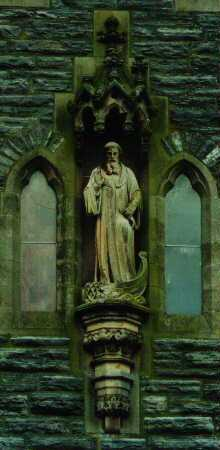 Statue of Saint Columba at Fort Augustus Abbey on Loch Ness