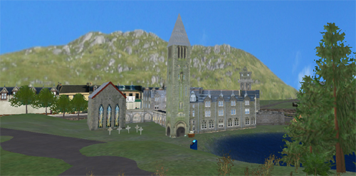 Fort Augustus Abbey in Second Life